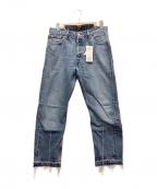 LEVIS(リーバイス)の古着「リメイクデニムパンツ」 ブルー