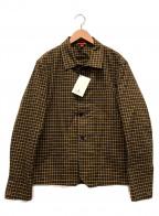 BARENA(バレナ)の古着「チェック4B ジャケット」|ブラウン