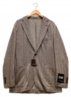 MACKINTOSH LONDON(マッキントッシュ ロンドン)の古着「ヘリンボーンツイードジャージジャケット」 ブラウン