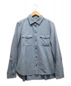 ()の古着「ハイストレッチツイルシャツ」 ネイビー