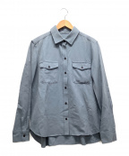 Whim Gazette(ウィムガゼット)の古着「ハイストレッチツイルシャツ」 ネイビー