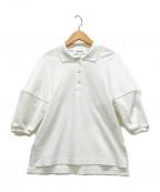 ENFOLD(エンフォルド)の古着「ポロシャツ」|ホワイト