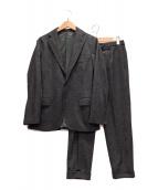 ()の古着「グレンチェックセットアップジャケット」 グレー