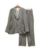 ()の古着「メランジカルゼセットアップジャケット」 グレー