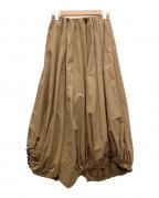 nagonstans(ナゴンスタンス)の古着「アシンメトリースカート」|ブラウン