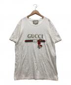 GUCCI(グッチ)の古着「ラビットアップリケオールドロゴTシャツ」|ホワイト