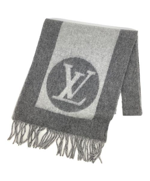 LOUIS VUITTON(ルイ ヴィトン)LOUIS VUITTON (ルイ ヴィトン) エシャルプ・カーディフ グレーの古着・服飾アイテム