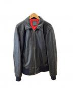 KADOYA(カドヤ)の古着「シングルライダースジャケット」 ブラック