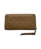LOUIS VUITTON(ルイ ヴィトン)の古着「ラウンドファスナー財布」|ベージュ