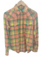 ()の古着「ウエスタンシャツ」|イエロー×オレンジ