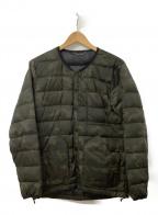 NANGA(ナンガ)の古着「インナーダウンジャケット」|グリーン