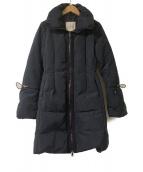 MONCLER(モンクレール)の古着「フレアスリーブダウンコート」|ネイビー
