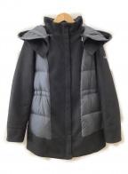 TATRAS()の古着「ウール切替ダウンコート」 ブラック