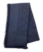 ()の古着「大判スカーフ」 ネイビー