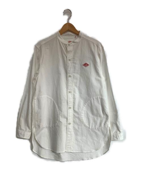DANTON(ダントン)DANTON (ダントン) バンドカラーシャツ ホワイト サイズ:38の古着・服飾アイテム
