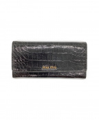MIU MIU(ミュウミュウ)の古着「長財布」|ブラック