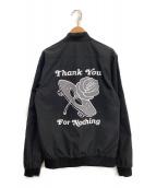 ()の古着「バーシティライトウエイトジャケット」|ブラック