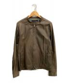()の古着「レザージャケット」|ブラウン