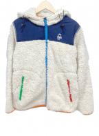CHUMS(チャムス)の古着「フリースジャケット」 ホワイト×ネイビー