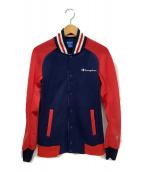 ()の古着「ボンバージャケット」|ネイビー×レッド