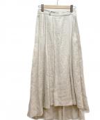 URBAN RESEARCH DOORS(アーバンリサーチドアーズ)の古着「リネンタックロングスカート」 アイボリー