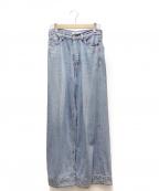 Mila Owen(ミラオーウェン)の古着「裾切替ワイドデニムパンツ」