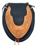 THE FLAT HEAD(ザ・フラットヘッド)の古着「レザーポーチ」|ブラック