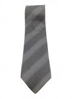 ()の古着「シルクネクタイ」 ブラック×グレー