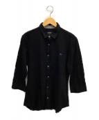 BURBERRY BLACK LABEL(バーバリーブラックレーベル)の古着「鹿の子シャツ」|ブラック
