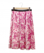 I.T.'S. international(イッツインターナショナル)の古着「フレアスカート」|ピンク