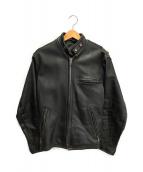 ()の古着「レザーライダースジャケット」 ブラック