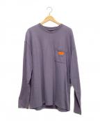 UNIVERSAL OVERALL(ユニバーサルオーバーオール)の古着「ポケットTシャツ」 パープル