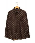 BURBERRY BLACK LABEL(バーバリーブラックレーベル)の古着「長袖シャツ」|ブラウン