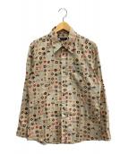 BURBERRY BLACK LABEL(バーバリーブラックレーベル)の古着「柄シャツ」|ベージュ