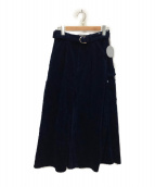 ACASAM(アカサム)の古着「コーデュロイスカート」|ネイビー