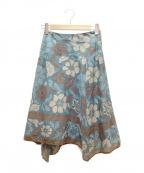 STRAWBERRY FIELDS(ストロベリーフィールズ)の古着「フレアスカート」|グリーン