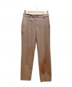 PLST(プラステ)の古着「リネンブレンドスティックパンツ」|ダークブラウン