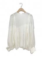 VERMEIL par iena(ヴェルメイユパーイエナ)の古着「プルオーバーブラウス」|ホワイト