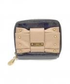 Chloe(クロエ)の古着「2つ折り財布」 ブラック×ベージュ