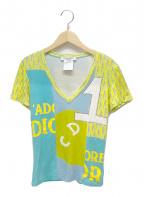 Christian Dior(クリスチャン ディオール)の古着「プリントTシャツ」 イエロー×ブルー