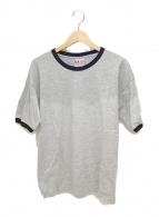 ()の古着「リンガーTシャツ」 グレー×ブラック