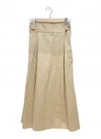 H.STANDARD(アッシュ スタンダード)の古着「ロングスカート」 ベージュ