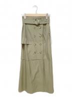 UN3D.(アンスリード)の古着「トレンチスカート」 グリーン