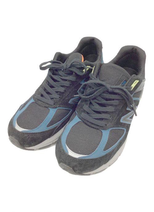 NEW BALANCE(ニューバランス)NEW BALANCE (ニューバランス) スニーカー ブラック×ネイビー サイズ:26cmの古着・服飾アイテム