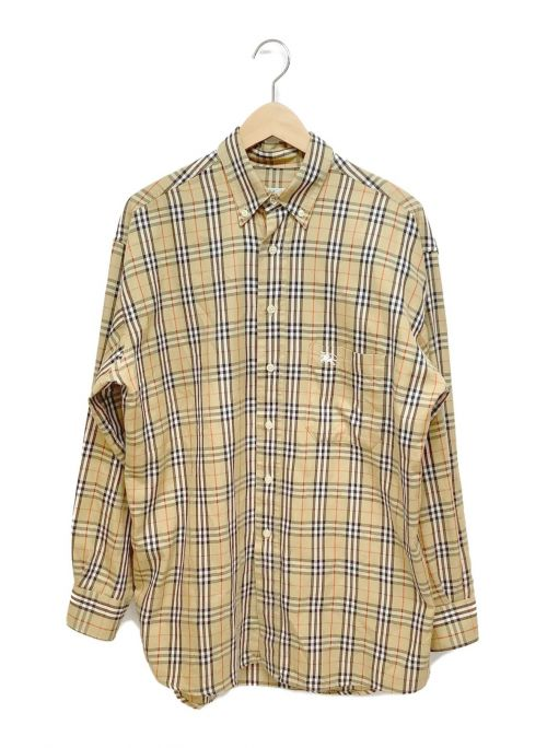 Burberry's(バーバリーズ)Burberry's (バーバリーズ) ノヴァチェックシャツ ベージュ×ブラック サイズ:Lの古着・服飾アイテム