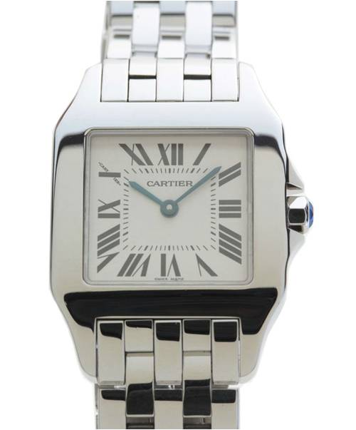 dd2c3c5edd48 Cartier (カルティエ) サントスドゥモワゼル/レディースウォッチ/□腕時計 文字盤:ホワイト