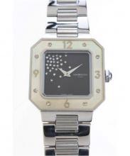 MAUBOUSSIN(モーブッサン)の古着「レディースウォッチ/クォーツ ■腕時計」|ブラック×シルバー