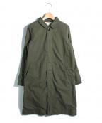 RINEN(リネン)の古着「ショップコート」|オリーブ
