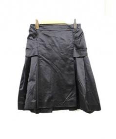 PRADA(プラダ)の古着「バックリボンスカート」|ブラック