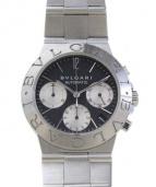 BVLGARI(ブルガリ)の古着「クロノグラフ/腕時計」|ブラック×シルバー
